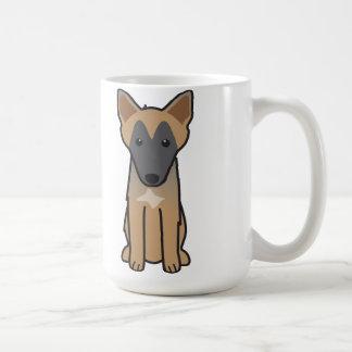 ベルギー人のMalinois犬の漫画 コーヒーマグカップ
