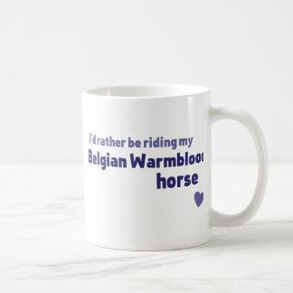 ベルギー人のWarmbloodの馬 コーヒーマグカップ
