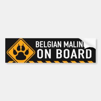 ベルギー人Malinois船上に バンパーステッカー
