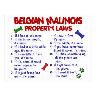 ベルギー人MALINOIS PL2 ポストカード