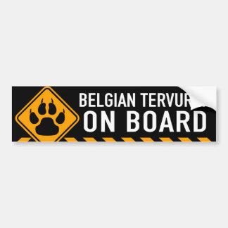 ベルギー人Tervuren船上に バンパーステッカー