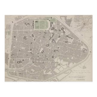 ベルギー2の旧式な地図 ポストカード