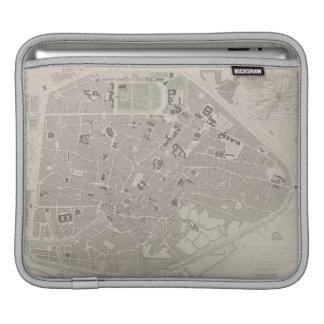 ベルギー2の旧式な地図 iPadスリーブ