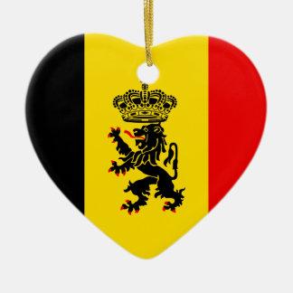 ベルギー、ベルギーの政府 陶器製ハート型オーナメント