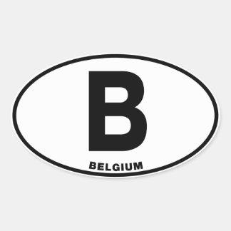 ベルギーBの楕円形の国際的なアイデンティティのコード文字 楕円形シール