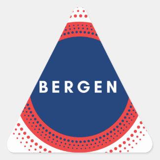 ベルゲンノルウェー 三角形シール