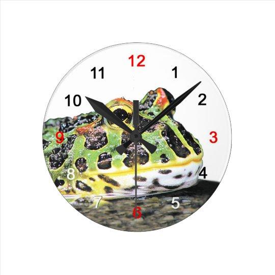 ベルツノガエルの壁掛け時計,No.01 ラウンド壁時計