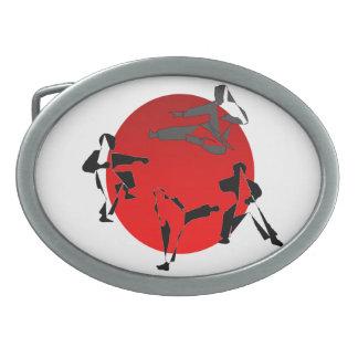 ベルトの留め金の空手の武道日本韓国 卵形バックル