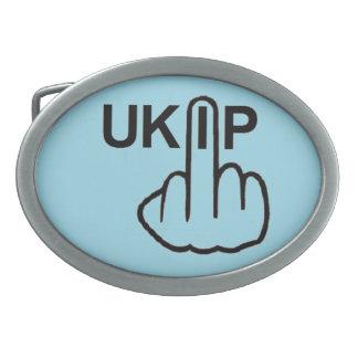ベルトの留め金UKIPフリップ 卵形バックル