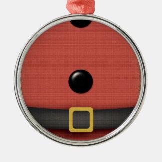 ベルトボタンが付いているサンタクロースのスーツ メタルオーナメント