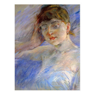 ベルト・モリゾ著白の若い女性 ポストカード