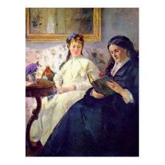 ベルト・モリゾ著芸術家の母そして姉妹 ポストカード
