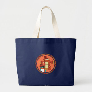 ベルニーおよびかかしのバッグ ラージトートバッグ