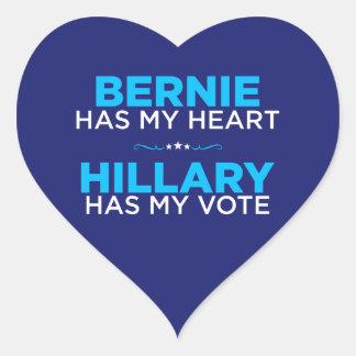 ベルニーに私のハート、ヒラリーが持っています私の投票ステッカーをあります ハートシール