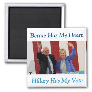 ベルニーに私のハート、ヒラリーが持っています私の投票磁石をあります マグネット