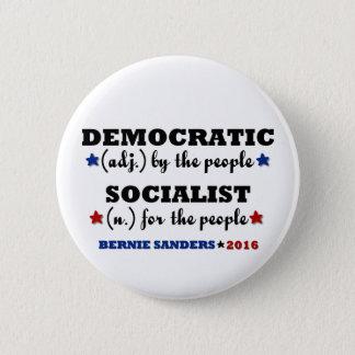 ベルニーの民主党の社会主義研摩機 5.7CM 丸型バッジ