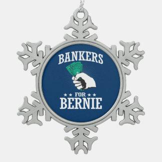 ベルニーの研摩機のための銀行家 スノーフレークピューターオーナメント