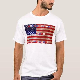 ベルニーの研摩機の米国旗のTシャツ Tシャツ