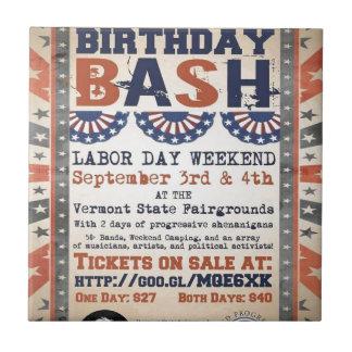 ベルニーの第75誕生日の強打および労働者の日のフェスティバル タイル