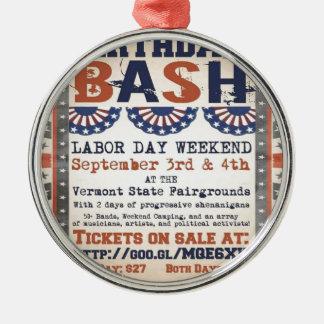 ベルニーの第75誕生日の強打および労働者の日のフェスティバル メタルオーナメント