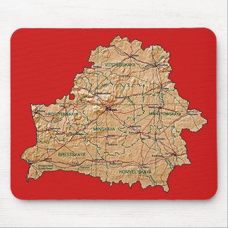 ベルラーシの地図のマウスパッド マウスパッド