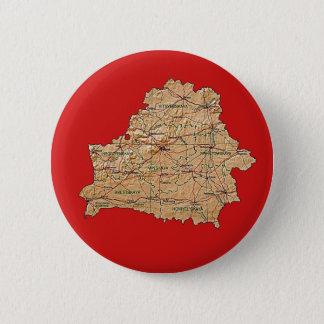 ベルラーシの地図ボタン 5.7CM 丸型バッジ
