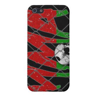 ベルラーシMMAのスカルの黒のiphone 4ケース iPhone 5 ケース