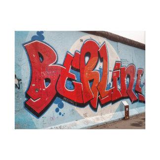ベルリンの壁の落書き キャンバスプリント