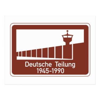 ベルリンの壁1945-1990年のベルリンの壁、ドイツ印 ポストカード