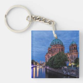 ベルリンの川の酒宴そしてカテドラル 正方形(片面)アクリル製キーホルダー