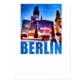 ベルリンのKaiserウィルヘルムの記念教会、Illu ポストカード