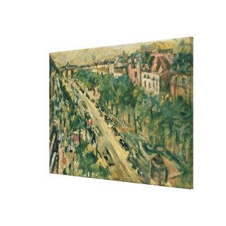 ベルリンのUnterの洞穴Linden 1922年 キャンバスプリント