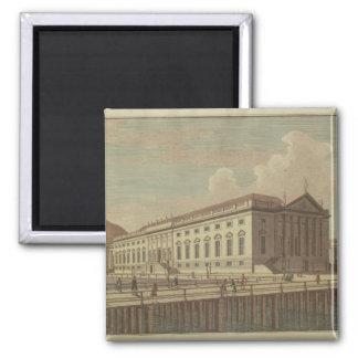 ベルリン1773年のオペラハウスの眺め マグネット