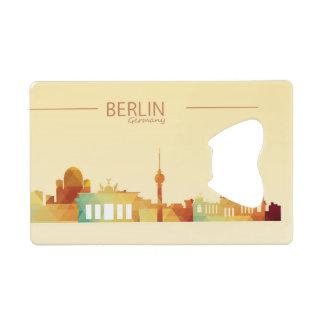 ベルリン、ドイツのクレジットカードの栓抜き ウォレット 栓抜き