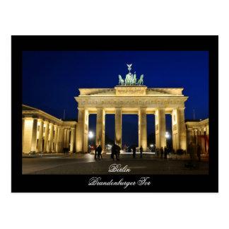 ベルリン、ドイツのブランデンブルク門 ポストカード