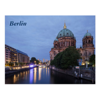 ベルリン、ドイツの川の酒宴そしてカテドラル ポストカード