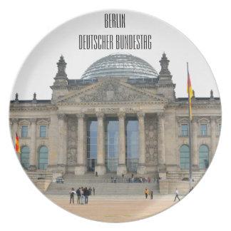 ベルリン、ドイツのReichstagの建物 プレート