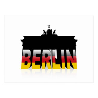ベルリン(ドイツ)のブランデンブルク門 ポストカード