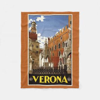 ベロナイタリアのヴィンテージ旅行フリースブランケット フリースブランケット
