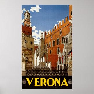 ベロナイタリアのヴィンテージ旅行ポスター ポスター