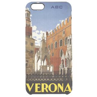 ベロナイタリアのヴィンテージ旅行習慣のケース クリア iPhone 6 PLUSケース