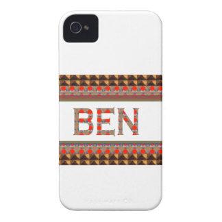 ベンの名前: テンプレートはあなたの名前か写真GOODLUCを加えます Case-Mate iPhone 4 ケース