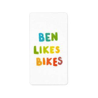 ベンはバイクのおもしろいの多彩な一流の単語の芸術のギフトを好みます ラベル