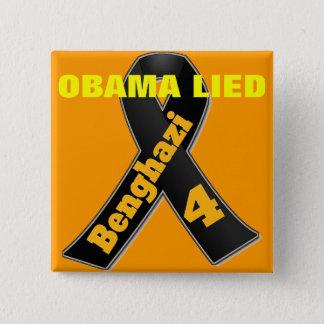 ベンガジ-オバマは折り襟略章ありました 5.1CM 正方形バッジ