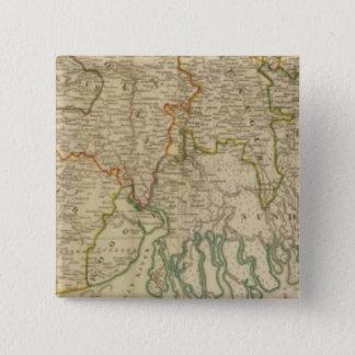ベンガルの南Baharの&c 5.1cm 正方形バッジ