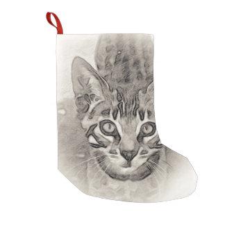 ベンガルの子ネコのスケッチ スモールクリスマスストッキング