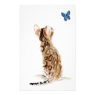 ベンガルの猫及び蝶 便箋