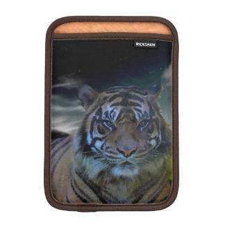 ベンガルの野生のトラの頭部の水彩画の大きな猫 iPad MINIスリーブ