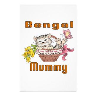 ベンガル猫のお母さん 便箋