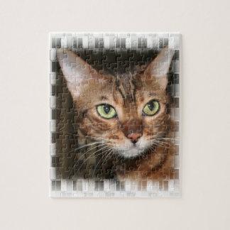 ベンガル猫のポートレート ジグソーパズル